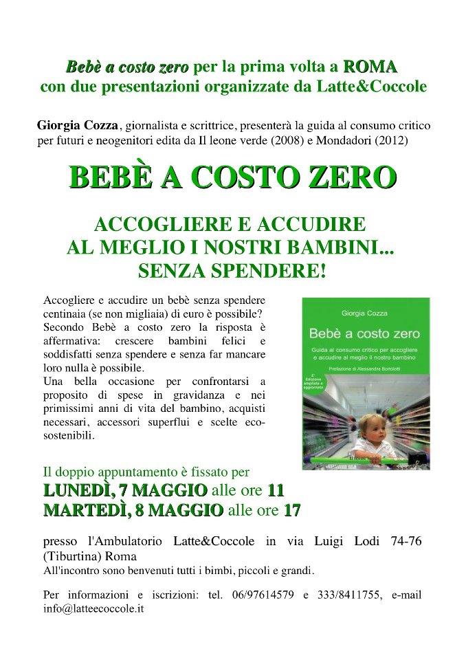Bebè a costo zero arriva a Roma!