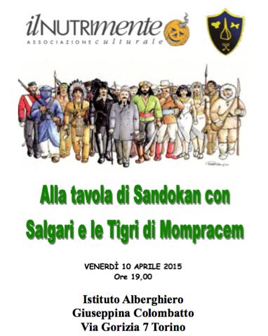 Torino, 10/04/2015, invito a cena con Sandokan
