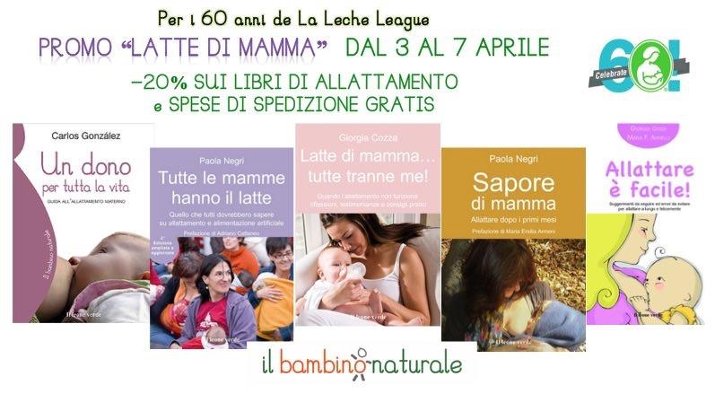 """Promozione """"Latte di Mamma"""": -20% e spedizione gratis sui libri di allattamento!"""