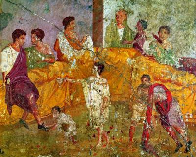 triclinium-cena romani